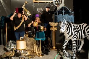 The JC Events team with a range of props which can now be hired for events.