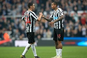Newcastle United midfielder Kenedy.