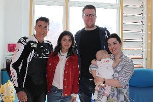 James Toseland, Katie Melua, Rob, Sophie and Jenny Henderson.