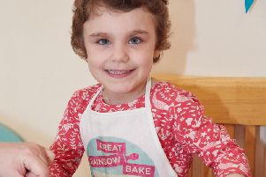 Phoebe Doneghan is supporting the bake appeal for the Rainbow Trust.