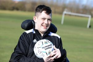 Fredriech's Ataxia sufferer Ewan Barry has become an ambassador for Newcastle FC