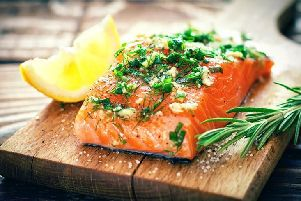 Oily fish - like salmon - can help those little grey cells