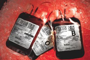 Stock picture of of blood bags. Picture by NHS Blood and Transplant/PA Wire