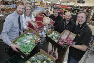 Aldi stores in South Shields and Hebburn are donating food to help those in need.