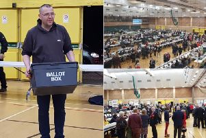 The election count gets underway in South Tyneside.