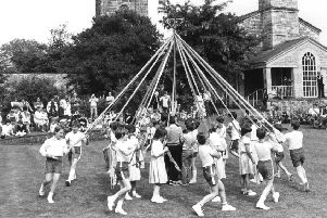Did you ever perform a maypole dance as a youngster?