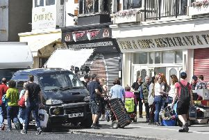 Filming has taken place on the seafront today