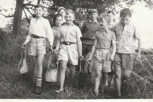 Scouts photographed at Westhall Scout Campsite, Whitburn in or around 1962.