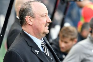 Rafa Benitez's contract at Newcastle United runs out on June 30, this summer (PA).