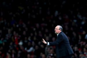 Rafael Benitez Manager / head coach of Newcastle United  during the Premier League match between Arsenal FC and Newcastle United at Emirates Stadium on April 01, 2019 in London, United Kingdom. (Photo by Catherine Ivill/Getty Images)