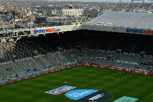 NEWCASTLE UPON TYNE, ENGLAND - NOVEMBER 25: General view inside the stadium prior to the Premier League match between Newcastle United and Watford at St. James Park on November 25, 2017 in Newcastle upon Tyne, England.  (Photo by Mark Runnacles/Getty Images)