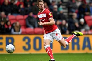 Adam Webster of Bristol City with the ball during the Sky Bet Championship match between Bristol City and Stoke City at Ashton Gate on October 27, 2018 in Bristol, England. (Photo by Alex Davidson/Getty Images)