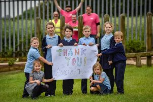 The 152-strong Avant team undertook a range of different projects at Mackie Hill Junior and Infant School.