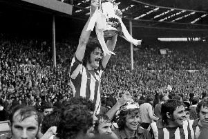 Bobby Kerr 'Lap of Honour with FA Cup 1973  old ref  number sport 6 16'Sunderland captain Bobby Kerr lifting the 1973 FA Cup after beating Leeds 1-0 at Wembley.'Sunderland Football Calendar 2011