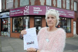 Elaine Lambert was given a parking ticket on the forecourt despite parking their for several years.