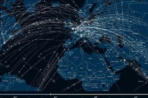 The map of Christmas flights