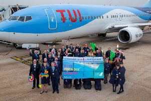 TUI crew and DSA team celebrate tickets going on sale for new flights to Mexico