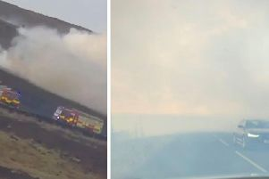 The fire service are currently at a fire on Askwith Moor. PICS: Luke Steele (left) and Tom Featherstone (right)
