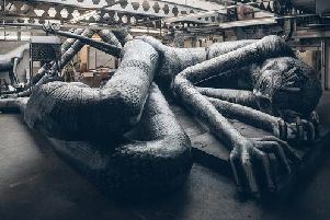 One of the huge sculptures. Picture: Chris Saunders