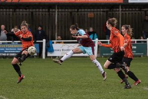 Burnley FC Women on the attack at Brighouse