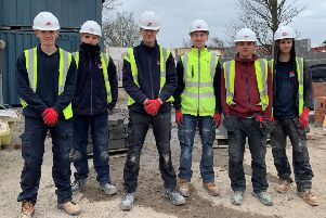 Six apprentices from Gainsborough are gaining valuable hands-on experience, building new affordable retirement living apartments in the town.