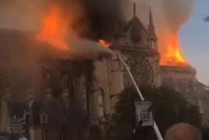 Notre-Dame Cathedral was damaged in a major fire on Monday.'Image by PA.