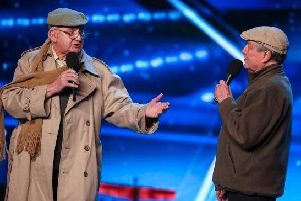 Henry Hall (left) on Britain's Got Talent with Malc White.