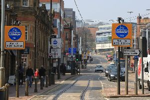The attack took place on West Street in Sheffield city centre
