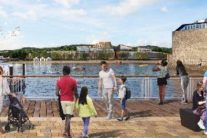 Artist's impression of the plan at Balloch in Scotland
