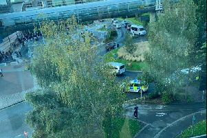 Police have evacuated Manchester Airport train station this morning (September 23)