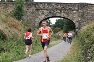 Edward Revell competing at the Spen Greenwway 10K