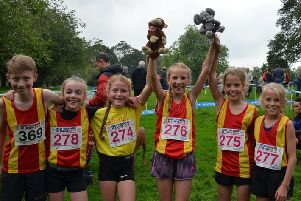 Spenborough AC's Under-11s runners, who competed at the West Yorkshire Cross Country League fixture in Keighley.