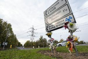 Floral tributes have been left at the scene of a fatal crash in Wakefield.