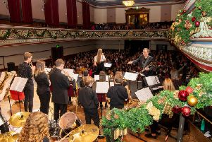 Heckmondwike Grammar School celebrations in Dewsbury Town Hall