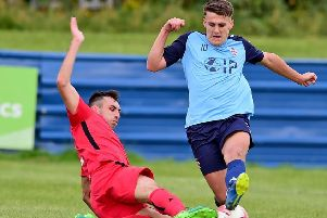 Alfie Raw opened the scoring after 11 minutes which set Liversedge on their way to a 4-2 win away to Bottesford Town in the Northern Counties East League Premier Division last Saturday. Picture: Paul Butterfield