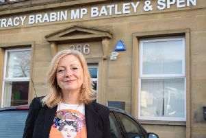 Batley & Spen MP Tracy Brabin outside her office on Oxford Road