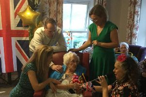Irene Rennie White hit 100 years old on Saturday