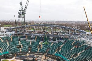 Severfield  has worked on the installation of the retractable roof for Wimbledon's  No.1 Court