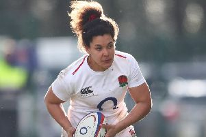 Tatyana Heard of England Women in action during the Women's Six Nations match at Castle Park, Doncaster. (Picture: Matthew Lewis/Getty Images)