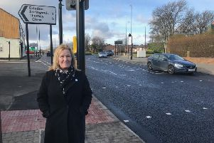 Deputy Cabinet Member for Environment and Transport Councillor Debra Waller at the new light controlled crossing