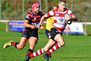 Mikey Hayward scored Cleckheaton's only try as they slipped to a 17-11 defeat against Driffield last Saturday, which leaves them precariously above the North One East relegation zone. Picture: Paul Butterfield