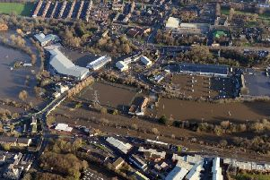 The Boxing Day flooding in Leeds, 2015.