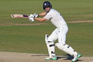 Opener Alex Lees helped hold up Derbyshire's progress. (Photo by Ian Horrocks/Getty Images)