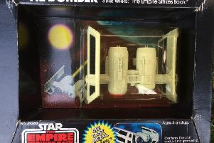A Tie Bomber from The Empire Strikes Back that was stored in a loft for nearly 40 years