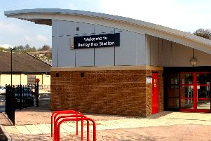 The incident took place at Batley Bus Station on Sunday.
