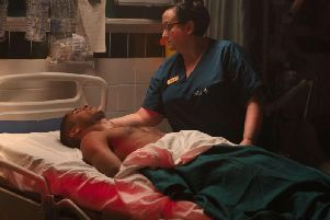 Alfred Enoch stars as a wounded soldier in the new BBC1 thriller Trust Me