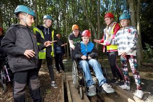 Palace date: Kirklees DofE at Little Deer Wood attended a garden party to collect the Queen's Award.
