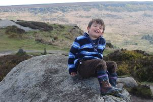 Sam Tuckett was badly hurt when he fell down in a hole in the Peak District.