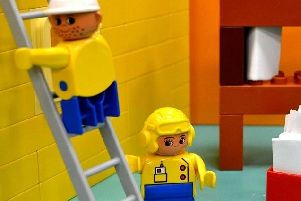 One teacher broke her foot after standing on a piece of LEGO and going over on her ankle