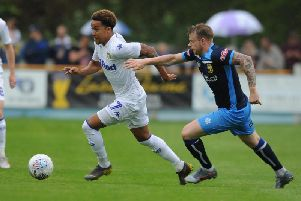 Helder Costa in action at Tadcaster.